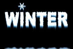 Testo di inverno Fotografie Stock Libere da Diritti
