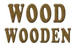 Testo di legno intagliato illustrazione vettoriale
