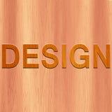 Testo di legno - progettazione illustrazione vettoriale