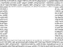Testo di linguaggio incomprensibile Fotografie Stock