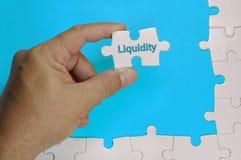 Testo di liquidità - concetto di affari fotografie stock