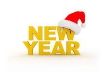 Testo di nuovo anno Fotografia Stock
