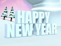 Testo di nuovo anno felice Immagine Stock Libera da Diritti