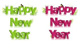 Testo di nuovo anno felice Fotografia Stock