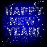 Testo di nuovo anno felice Fotografie Stock Libere da Diritti