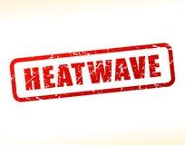 Testo di onda di calore attenuato Immagine Stock Libera da Diritti