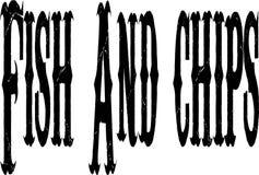 Testo di pesce e patate fritte Fotografie Stock Libere da Diritti