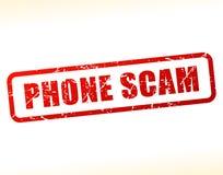 Testo di raggiro del telefono attenuato Fotografia Stock Libera da Diritti