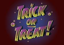 Testo di scherzetto o dolcetto per il manifesto di Halloween testo dello zombie 3D Fotografia Stock Libera da Diritti