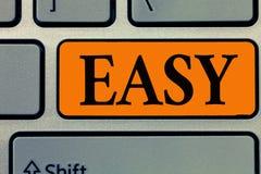 Testo di scrittura di parola facile Il concetto di affari per Achieved senza grande sforzo che non ha difesa libera dalle preoccu illustrazione di stock