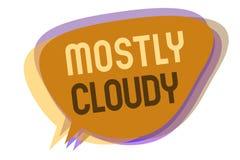 Testo di scrittura di parola principalmente nuvoloso Concetto di affari per l'idea nebulosa lanuginosa nebbiosa Vaporous oscura d royalty illustrazione gratis
