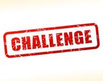 Testo di sfida attenuato Immagine Stock