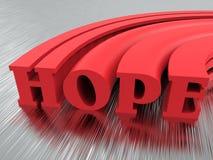 Testo di speranza mandato in aria Fotografia Stock Libera da Diritti