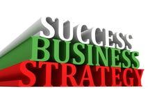 Testo di strategia aziendale di successo su bianco Fotografia Stock Libera da Diritti