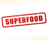 Testo di Superfood attenuato Immagini Stock
