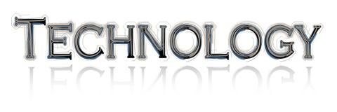 Testo di tecnologia Immagine Stock