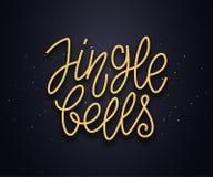 Testo di tipografia di Jingle Bells Scheda di vettore Immagine Stock