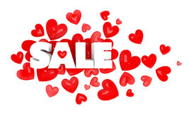testo di vendita 3d Fotografia Stock