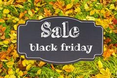 Testo di vendita di autunno Fotografia Stock