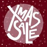 Testo di vendita di natale di Natale, stampa, manifesto, decorazione di inverno, phot Fotografie Stock Libere da Diritti