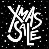 Testo di vendita di natale di Natale, stampa, manifesto, decorazione di inverno, phot Fotografia Stock
