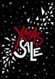 Testo di vendita di natale di Natale, stampa, manifesto, decorazione di inverno, phot Fotografie Stock