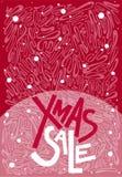 Testo di vendita di natale di Natale, stampa, manifesto, decorazione di inverno, phot Fotografia Stock Libera da Diritti