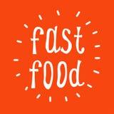 Testo di vettore degli alimenti a rapida preparazione fotografia stock