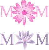 Testo di vettore del fiore della mamma Immagine Stock Libera da Diritti