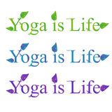 Testo di vettore di yoga - l'yoga è vita Fotografie Stock Libere da Diritti