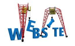 Testo di Web site 3D della costruzione Fotografie Stock
