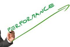 Testo di Writing Diagonal Performance dell'uomo d'affari Immagine Stock Libera da Diritti