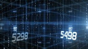 Testo digitale di dati matriciali stock footage