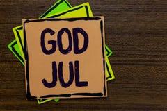 Testo Dio luglio di scrittura di parola Il concetto di affari per il Buon Natale che accoglie la gente per le feste felici del nu Fotografia Stock Libera da Diritti