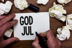 Testo Dio luglio di scrittura di parola Il concetto di affari per il Buon Natale che accoglie la gente per le feste felici del nu Fotografie Stock