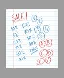 Testo disegnato a mano di vendita illustrazione vettoriale