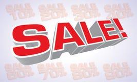 Testo duro di vendita Immagine Stock