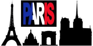 Testo e limiti della bandierina di Parigi royalty illustrazione gratis