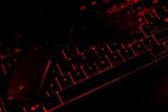 Testo e pistola di parola d'ordine sui bottoni illuminati della tastiera Immagini Stock Libere da Diritti