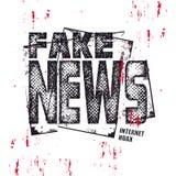 Testo falso di notizie Illuatration di vettore Fotografie Stock Libere da Diritti