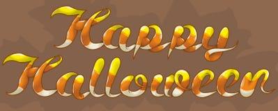 Testo felice del cereale di caramella di Halloween Fotografia Stock