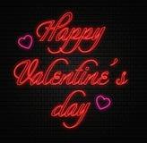 Testo felice di giorno di biglietti di S. Valentino Fotografia Stock Libera da Diritti