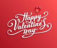 Testo felice di giorno del biglietto di S. Valentino s Fotografia Stock Libera da Diritti
