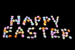 Testo felice di Pasqua Immagine Stock