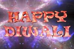 Testo felice di three-dimentional di Diwali Fotografia Stock