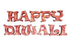 Testo felice di three-dimentional di Diwali Immagini Stock Libere da Diritti