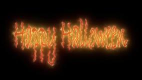 Testo felice numero 2 di animazione di Halloween stock footage