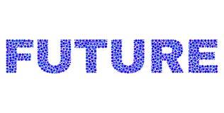 Testo FUTURO in Dot Style illustrazione di stock