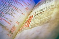 Testo latino antico Immagini Stock Libere da Diritti