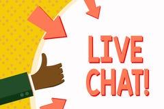 Testo Live Chat di scrittura di parola Concetto di affari per la conversazione sulla comunicazione su mezzi mobili di multimedia  royalty illustrazione gratis